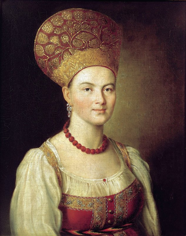 argunov_ivan_portrait_of_unknown_-peasant_woman_in_russian_dress_1784