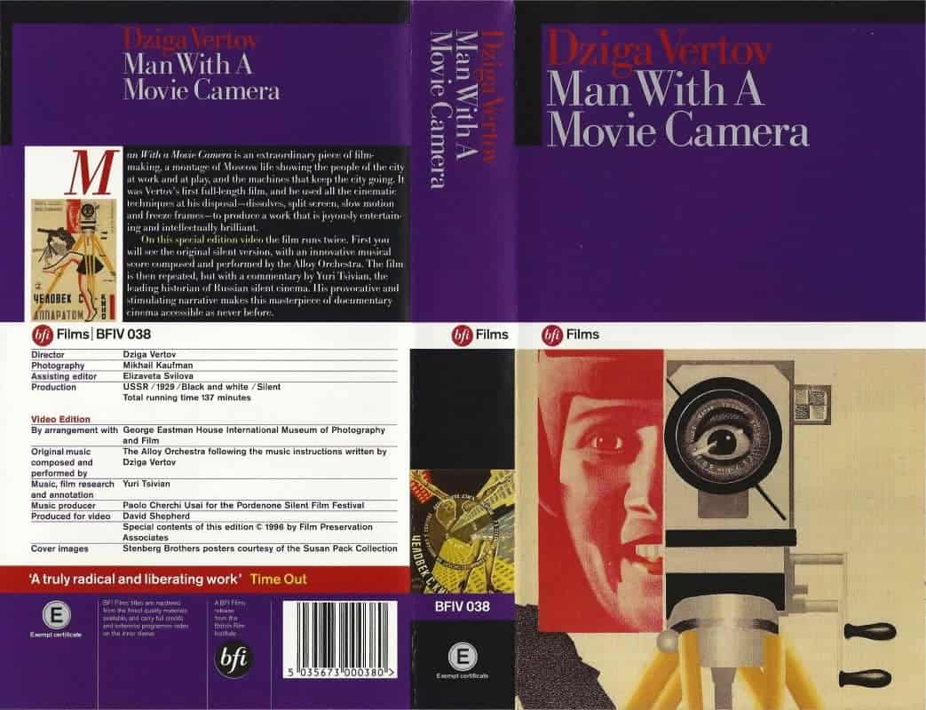 man with movie camera In this essay from 1972, first published in artforum, annette michelson explores  dziga vertov's masterpiece the man with a movie camera.